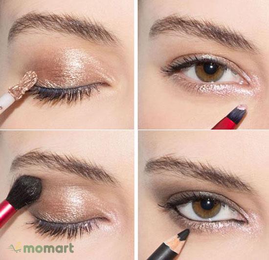 Cách phối màu mắt nâu đồng
