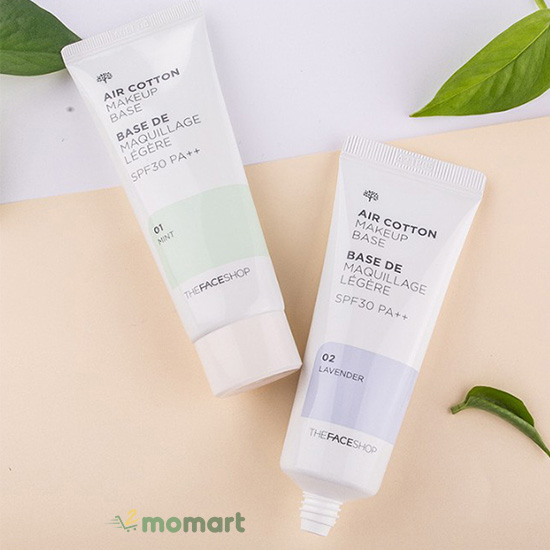 Kem lót Air cotton makeup base của The Face Shop