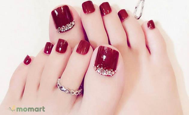 Mẫu móng chân đẹp dành cho nàng sành điệu và cá tính