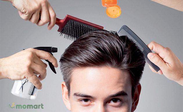 Cách dùng sáp vuốt tóc Nam