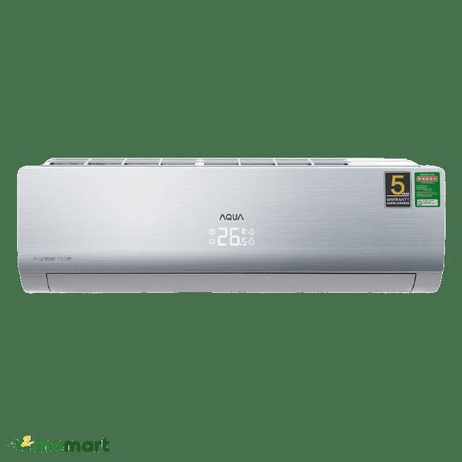 Máy lạnh Aqua Inverter 1.5 HP AQA-KCRV13NB chụp trực diện