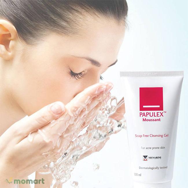 Papulex Moussant Soap Free Cleansing Gel đến từ Pháp