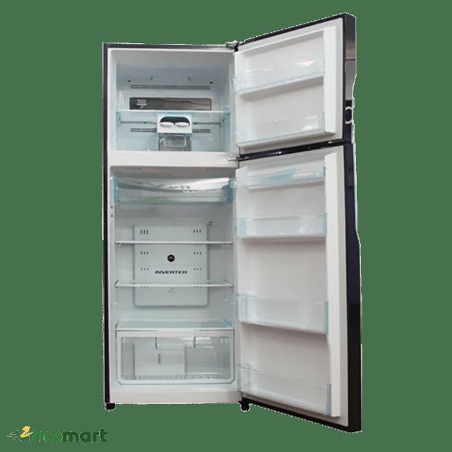 Bên trong tủ lạnh Hitachi Inverter 335 lít R-VG400PGV3 GBK