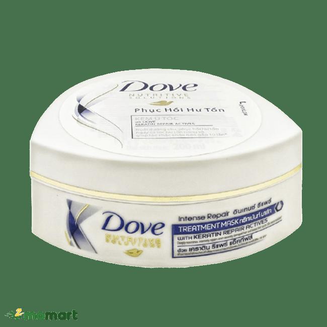Thiết kế của kem ủ tóc Dove