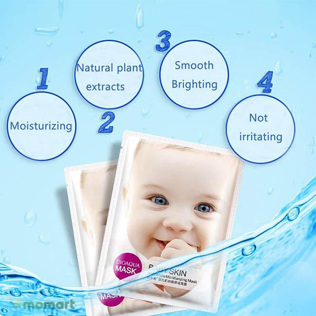 Công dụng của Mặt Nạ Baby Skin Bioaqua