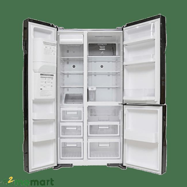 Bên trong của tủ Lạnh Hitachi R-M700GPGV2