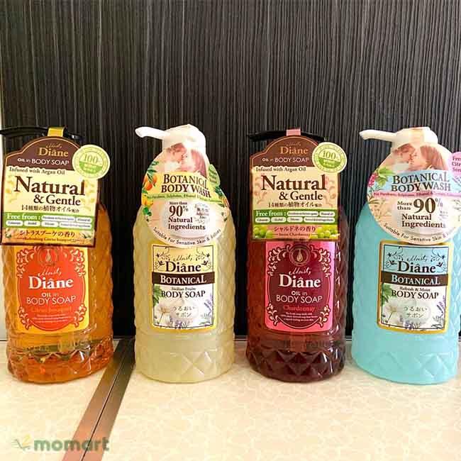 Hình thật của combo sữa tắm Moist Diane Body Soap