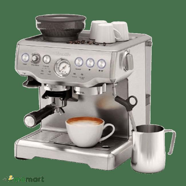 Máy pha cà phê Breville 870 chụp nghiêng