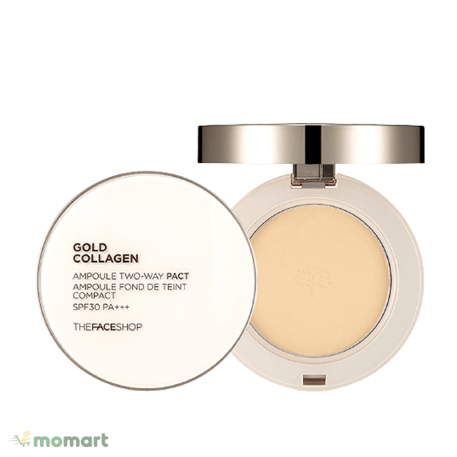 The Face Shop Gold Collagen Ampoule Two-Way Pact chất lượng