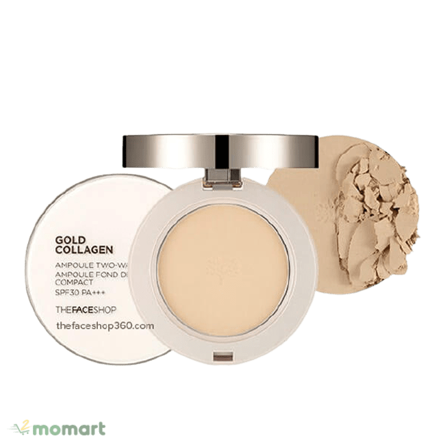 The Face Shop Gold Collagen Ampoule Two-Way Pact nổi tiếng