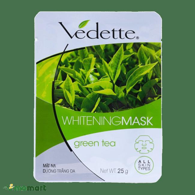 Mặt nạ Vedette trà xanh lành tính cho da