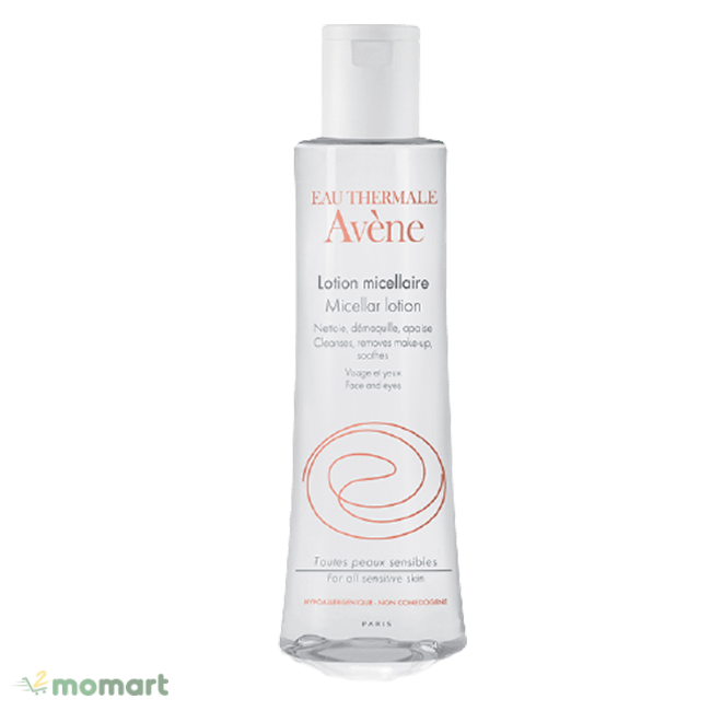 Avene Micellar Lotion Cleanser and Makeup Remover dung tích nhỏ