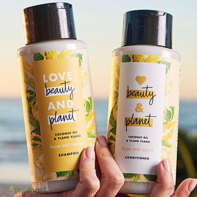 Combo dầu gội xã Love Beauty And Planet chính hãng