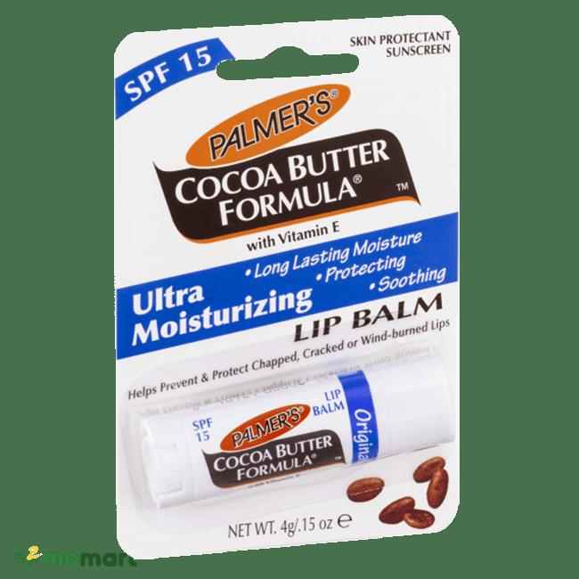 Bao bì của Palmer's cocoa butter formula lip balm SPF 15