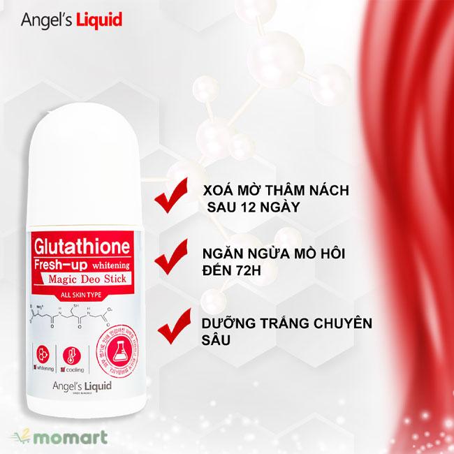 Lăn Khử Mùi Angel's Liquid Glutathione Fresh-up Whitening giúp dưỡng trắng