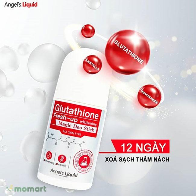 Lăn Khử Mùi Angel's Liquid Glutathione Fresh-up Whitening giúp khử mùi hôi