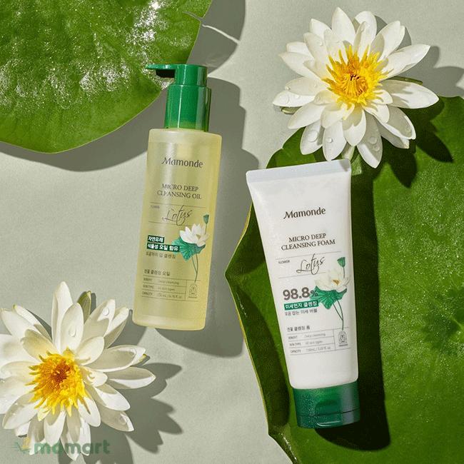 Dầu tẩy trang Mamonde Lotus Micro Cleansing Oil giữ ẩm da