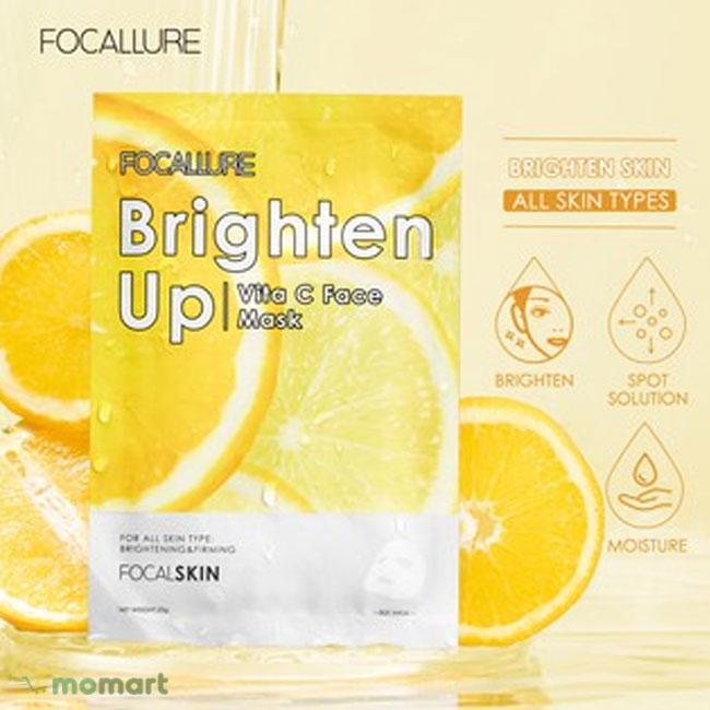 Mặt Nạ Focallure vitamin C dưỡng trắng