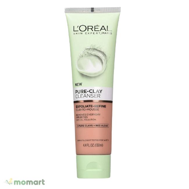 Sữa rửa mặt L'Oreal Pure Clay Cleanser dưỡng da