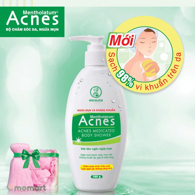 Sữa tắm Acnes Body Shower làm mềm da