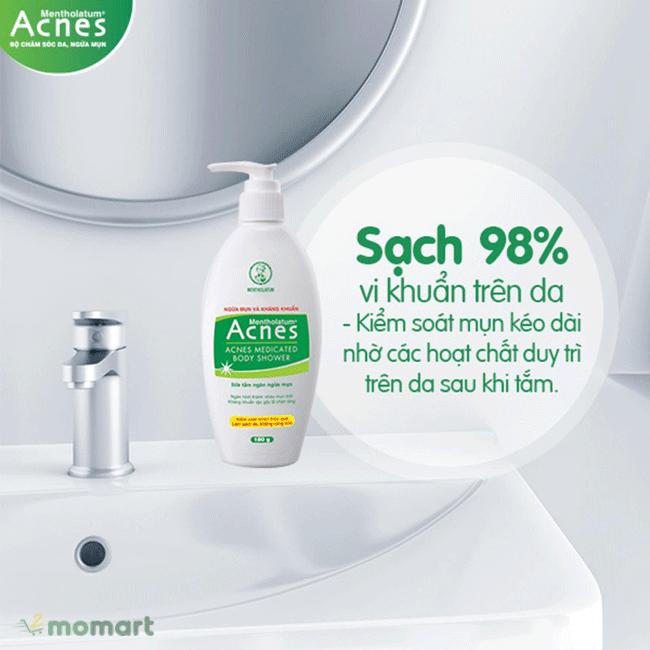 Sữa tắm Acnes Body Shower kháng viêm tốt