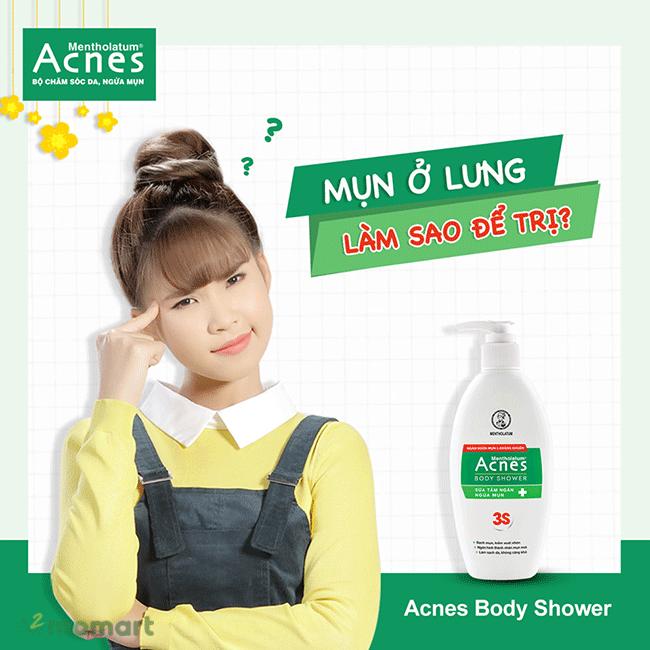 Sữa tắm Acnes Body Shower trị mụn lưng