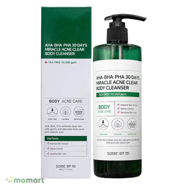 Some By Mi Miracle Acne Clear Body Cleanser rị mụn
