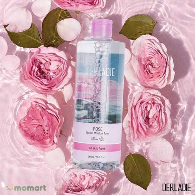 Toner Derladie mùi hoa hồng