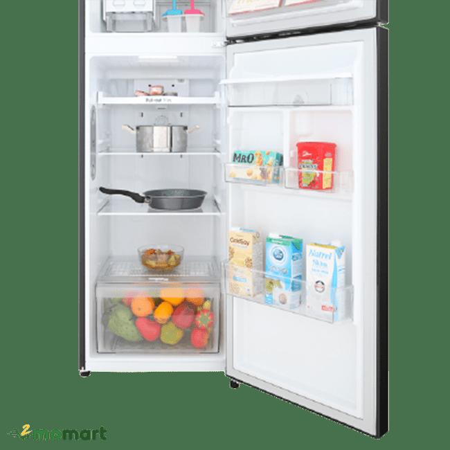 Tủ Lạnh Inverter LG GN-D255BL chụp bên trong