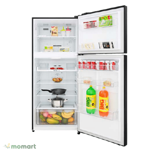 Tủ lạnh LG Inverter 393 lít GN-B422WB chụp bên trong