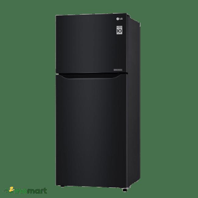 Tủ lạnh LG Inverter 393 lít GN-B422WB chụp nghiêng trái