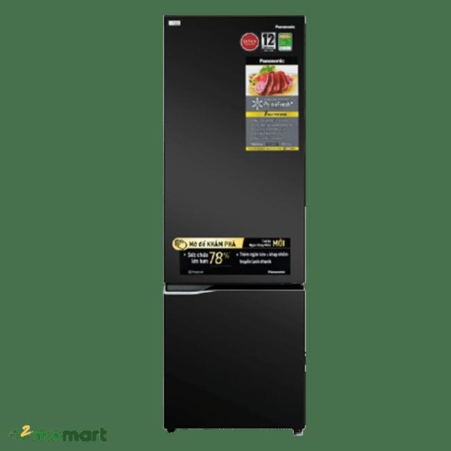 Trực diện của tủ lạnh Panasonic NR-BC360QKVN