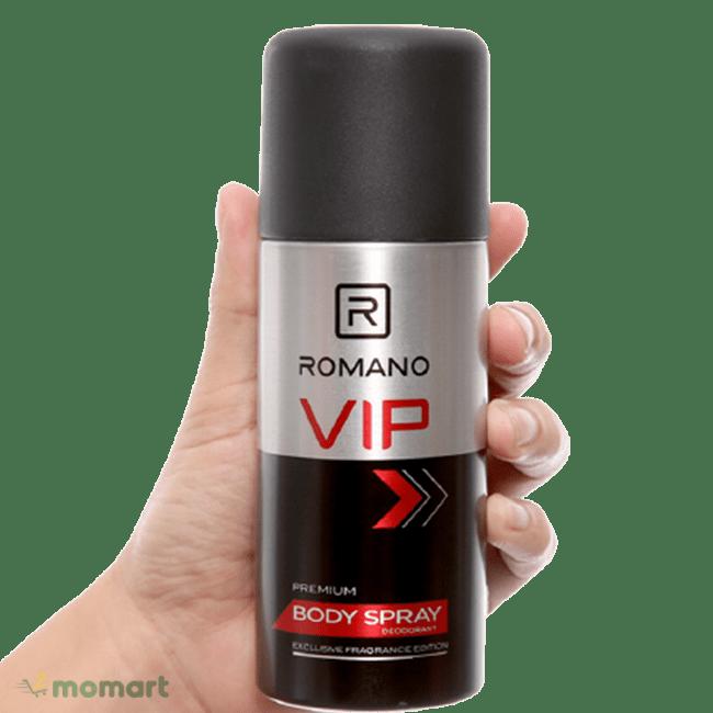 Thiết kế của xịt khử mùi Romano VIP