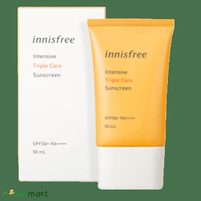 Kem chống nắng Innisfree thành phần thiên nhiên