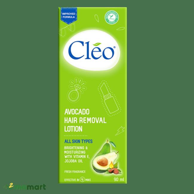 Kem tẩy lông Cleo Bơ cho mọi loại da