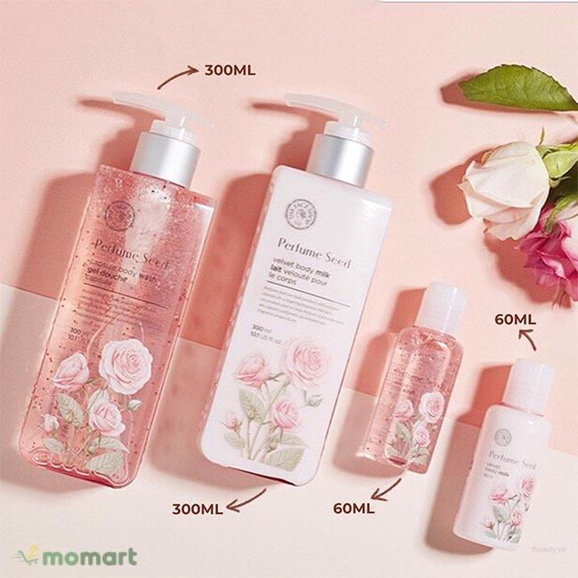 Perfume Seed Velvet Special Body Care Set mini size