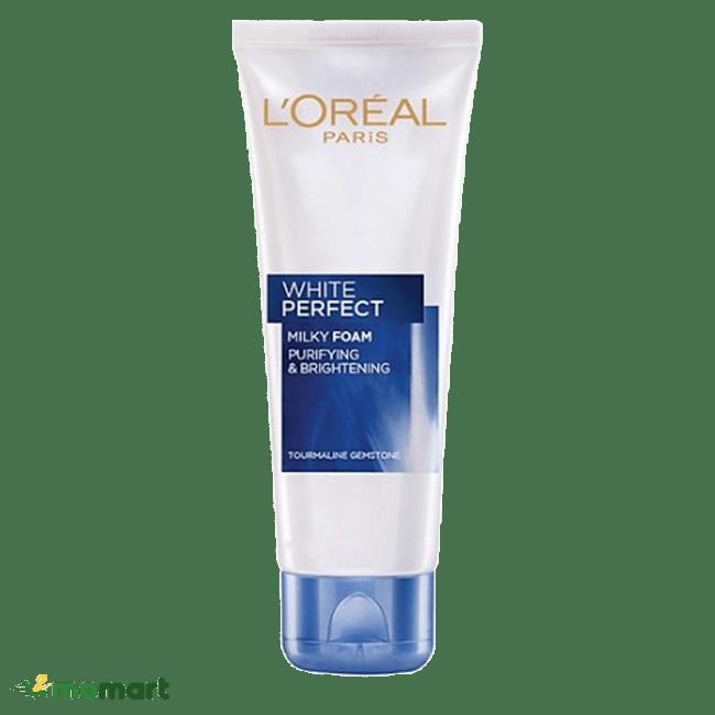 Sữa rửa mặt L'Oréal Paris White Perfect Milky Foam làm sạch da