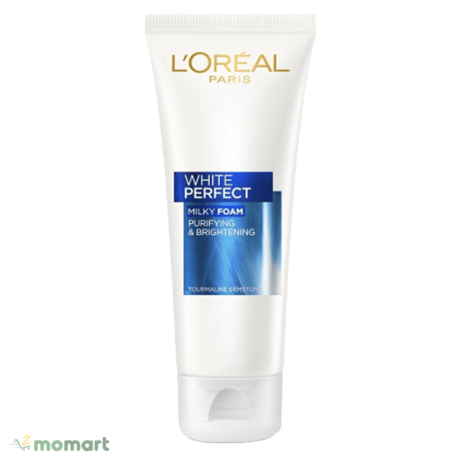 Sữa rửa mặt L'Oréal Paris White Perfect Milky Foam sạch mụn