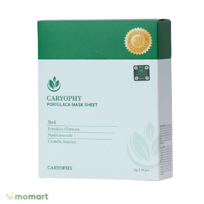 Mặt nạ Caryophy Portulaca Mask Sheet thương hiệu được ưa chuộng
