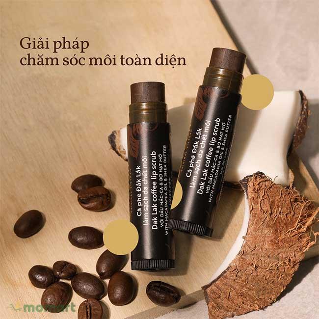 Thành phần của tẩy tế bào chết môi Cocoon hạt cà phê