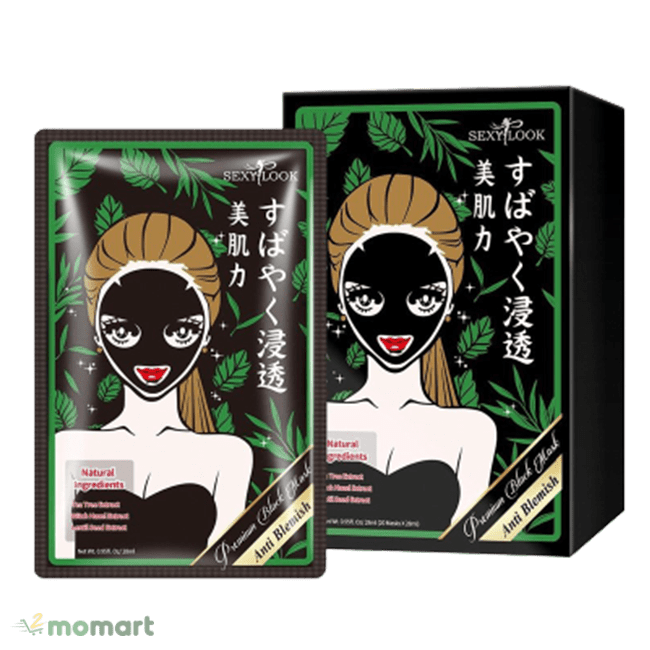 Mặt nạ đen SexyLook kháng khuẩn mụn