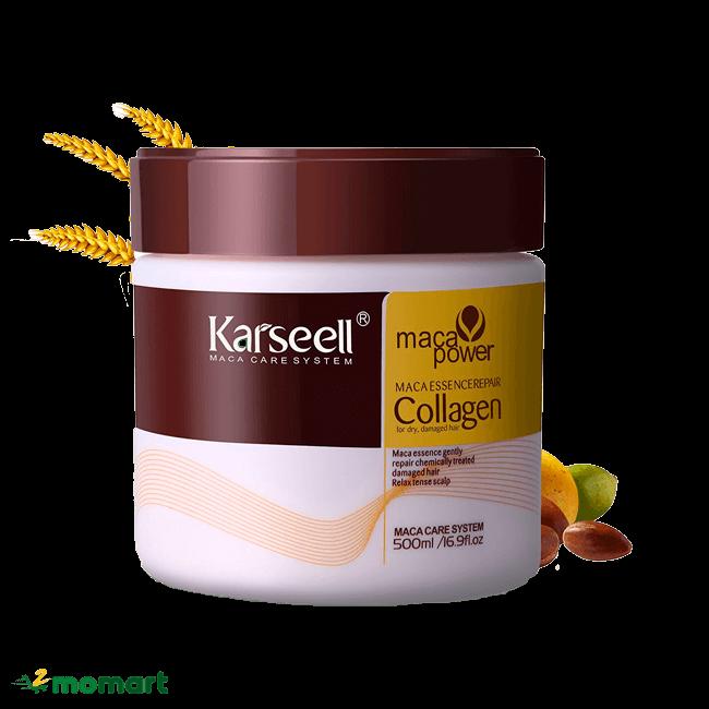 kem ủ Collagen Karseell Maca phục hồi tóc hư tổn