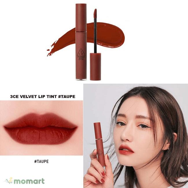 Son kem lì 3CE Velvet Lip Tint làm đẹp đôi môi của bạn