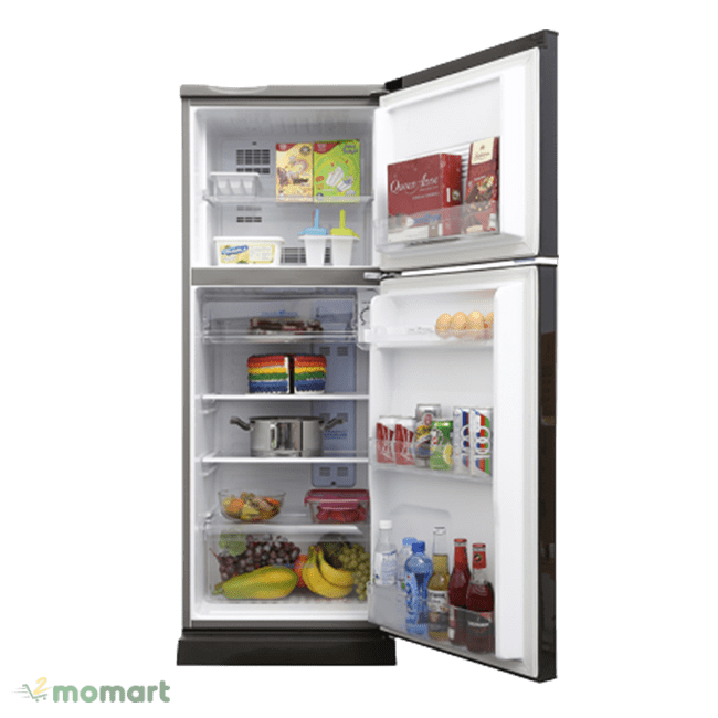 Tủ lạnh Aqua Inverter 186 lít AQR-I209DN DC chụp bên trong