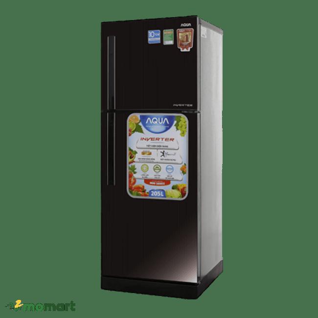 Tủ lạnh Aqua Inverter 186 lít AQR-I209DN DC chụp nghiêng