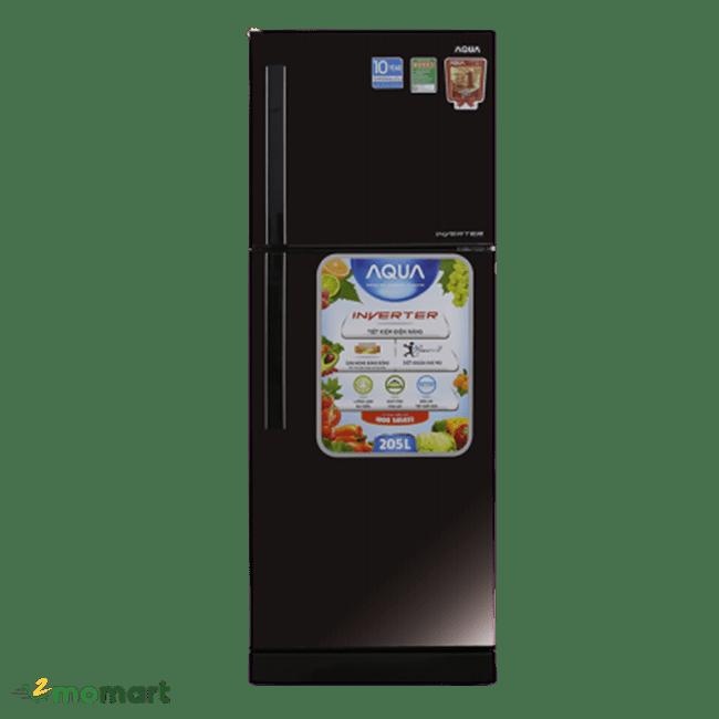 Tủ lạnh Aqua Inverter 186 lít AQR-I209DN DC chụp trực diện