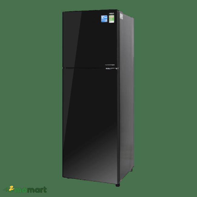 Tủ lạnh Aqua Inverter 344 lít AQR-IG386DN GBN chụp nghiêng