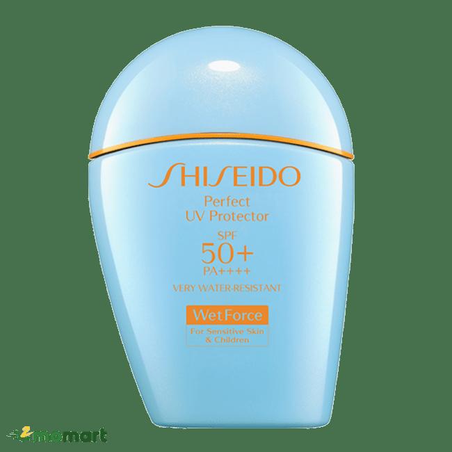 Sản phẩm kem chống nắng Shiseido chống trôi