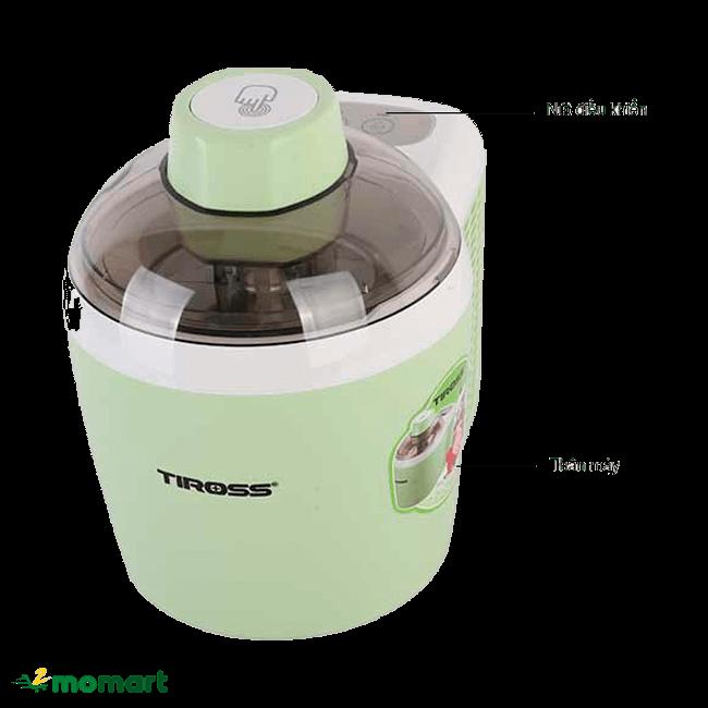 Máy làm kem Tiross TS9090 có thiết kế tiện lợi