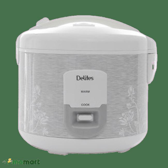 Chụp trực diện nồi cơm điện Delites 1.8 lít NCG1805